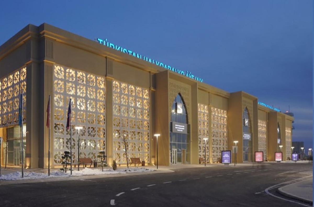 Аэропорт Туркестана принял первый регулярный рейс