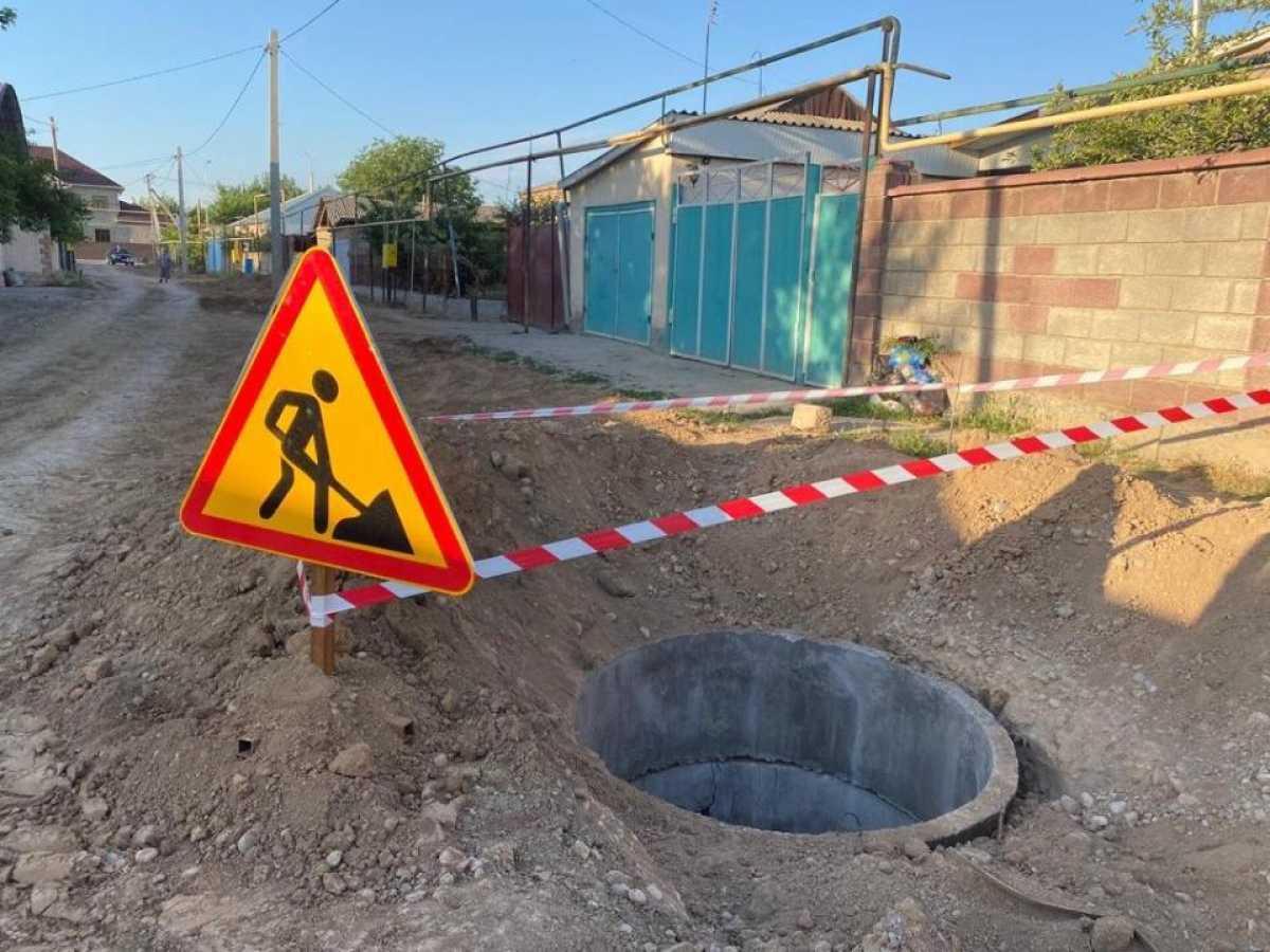 Около 600 км канализационных труб прокладывают в Шымкенте