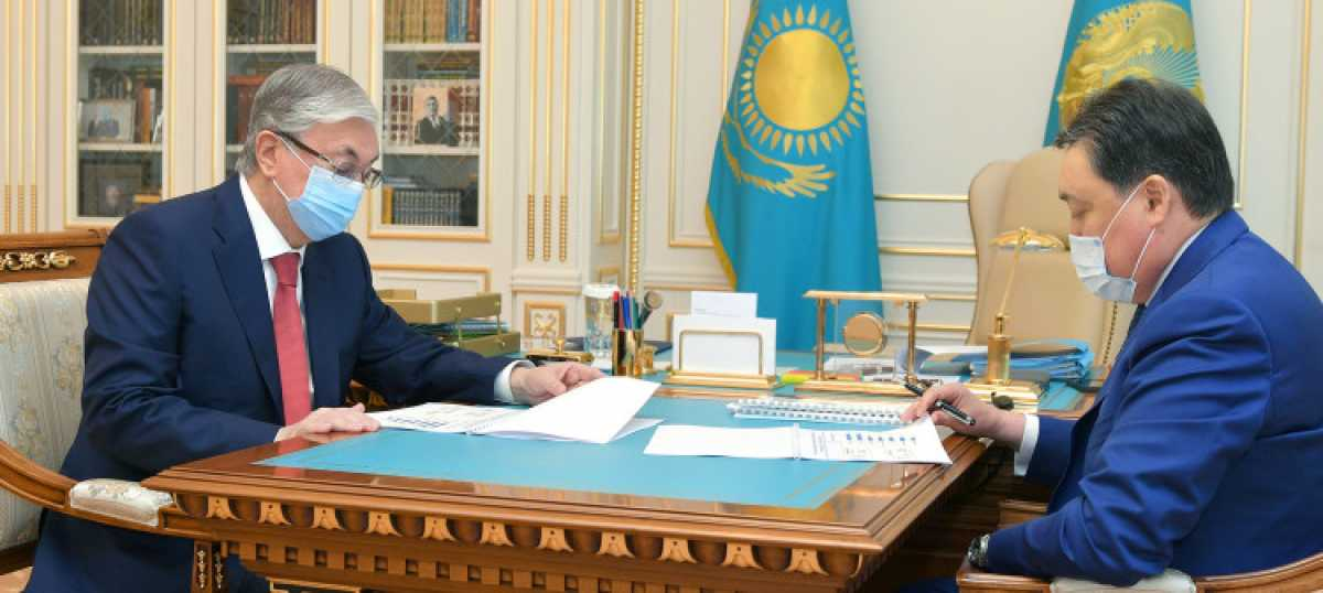 Токаев принял Премьер-министра Аскара Мамина