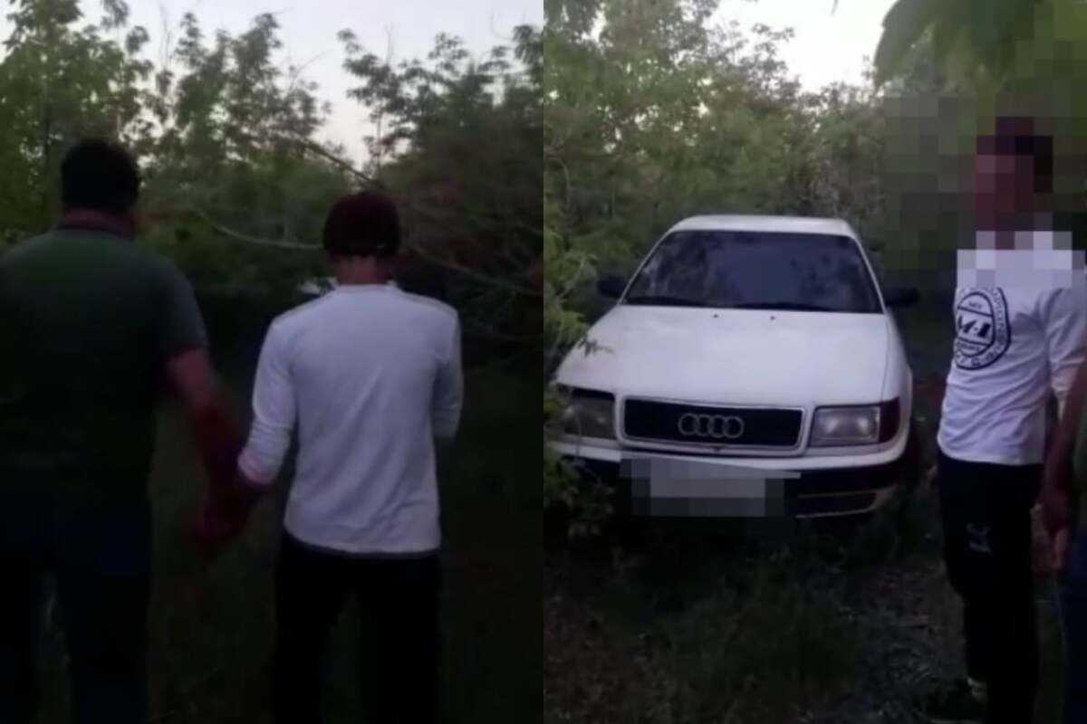 Угнал автомобиль и спрятал в кустах: подозреваемый задержан в Акмолинской области
