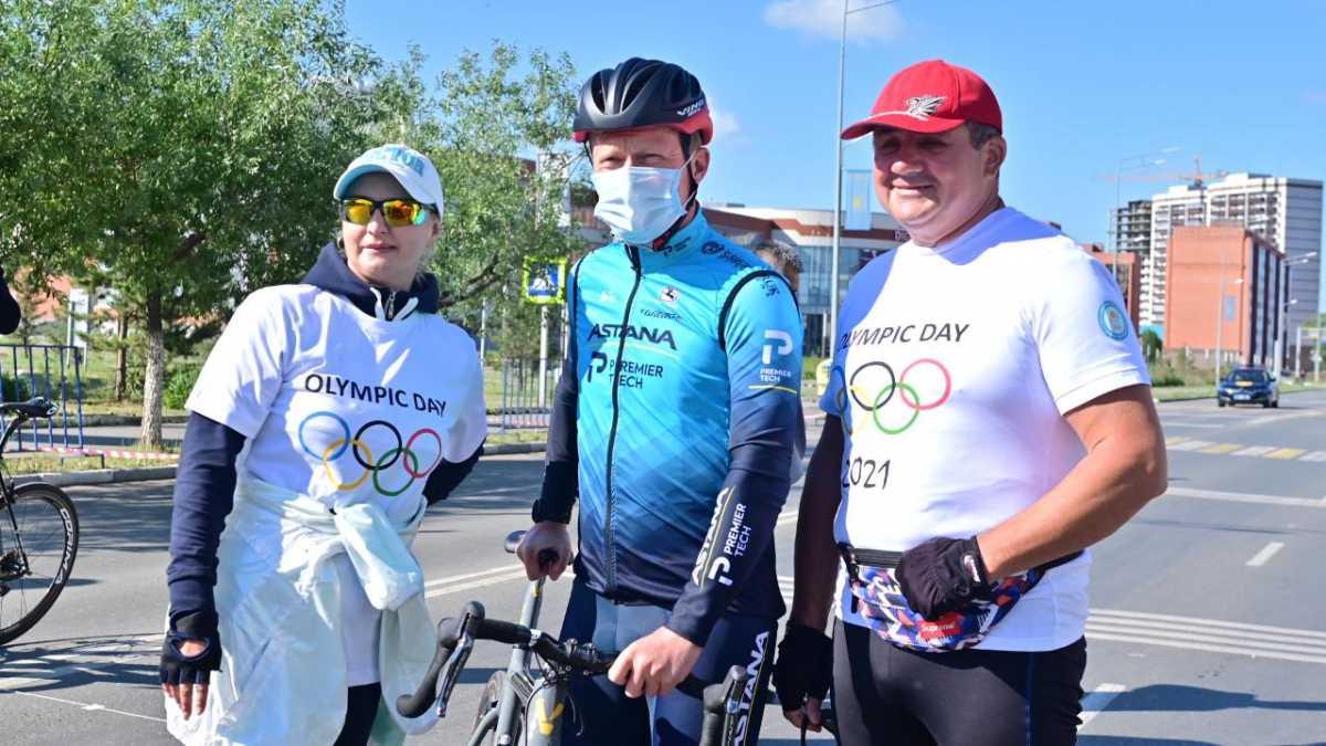 Александр Винокуров открыл велопробег Олимпийского дня в СКО