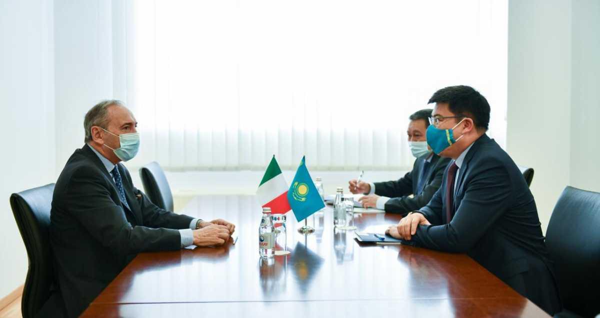 Посол Италии завершает свою миссию в Казахстане