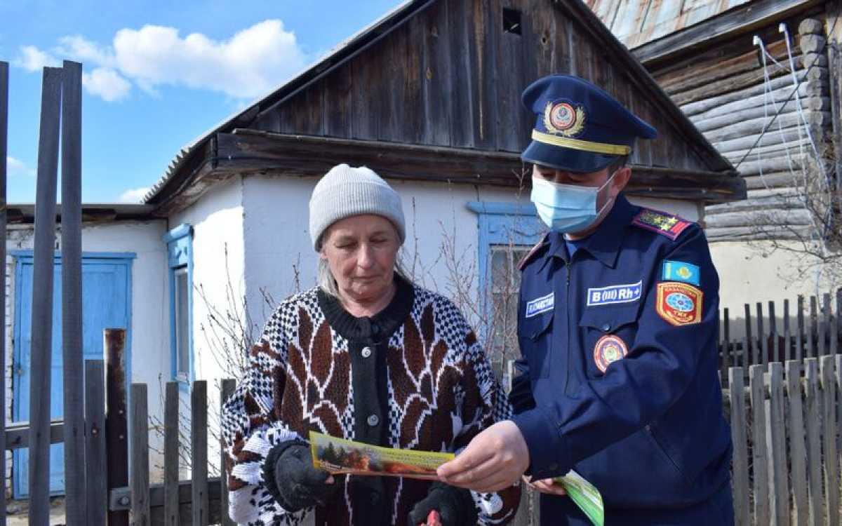 Месячник пожарной безопасности проходит в Акмолинской области