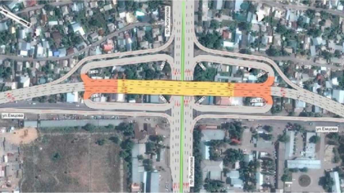 Крупный проспект в Алматы перекроют из-за строительства развязки