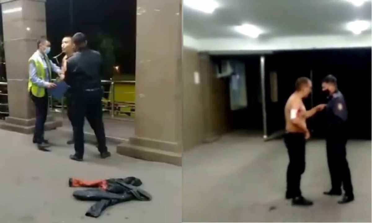 Установлена личность устроившего дебош в больнице Алматы мужчины