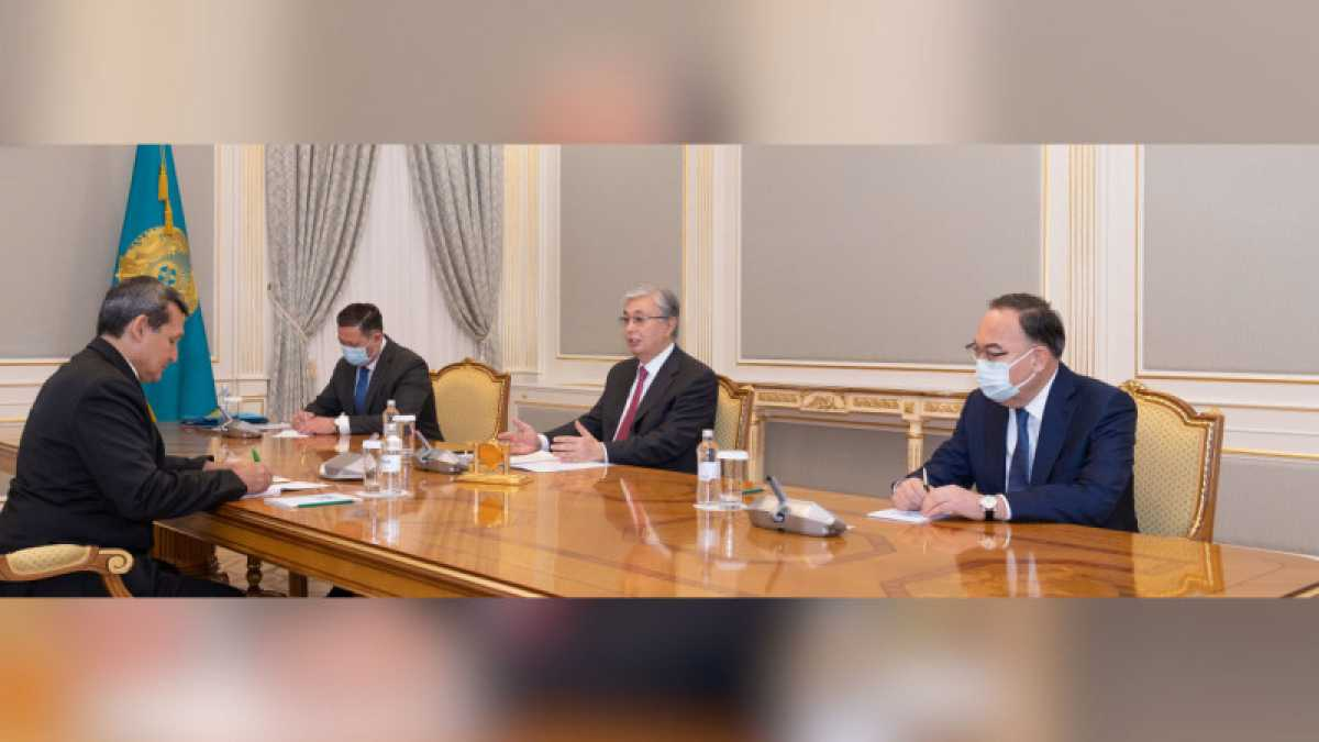 Токаев принял главу МИД Туркменистана