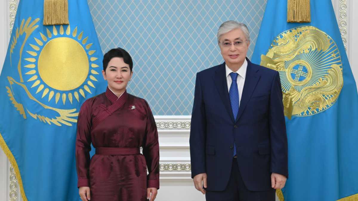 Токаев принял министра внешних сношений Монголии