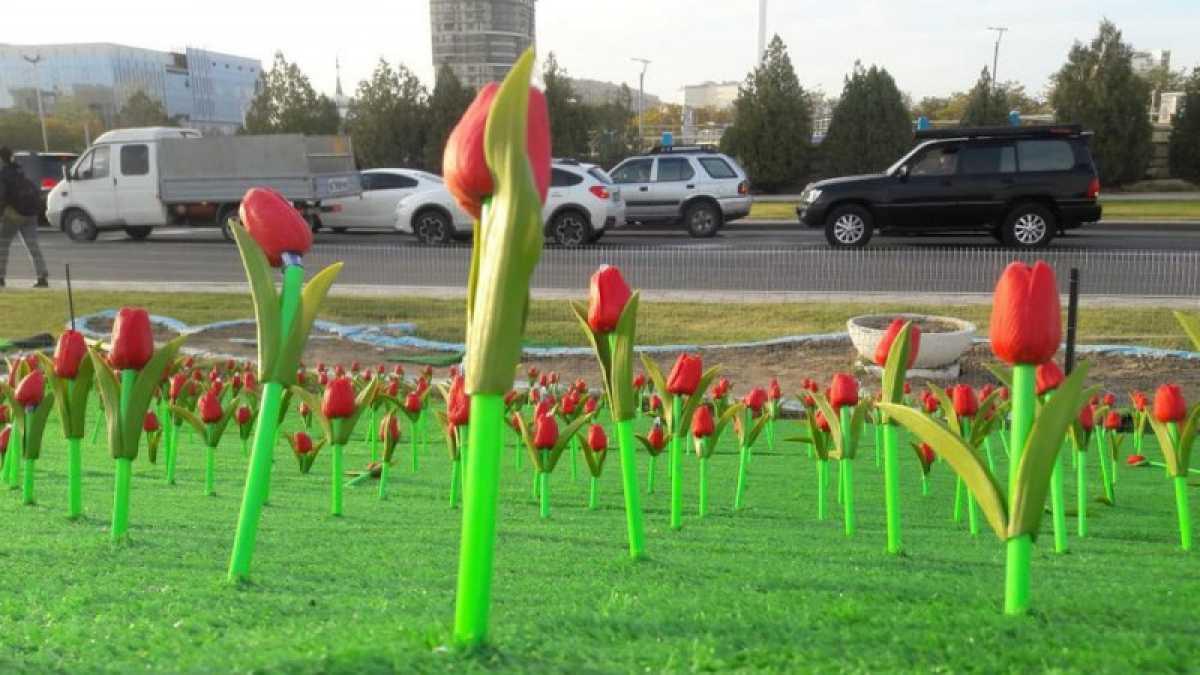 Пластиковые цветы на 15 миллионов тенге «посадили» в Актау